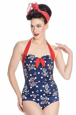 Hell Bunny St Tropez Nautical 50's Vintage Style Swimsuit