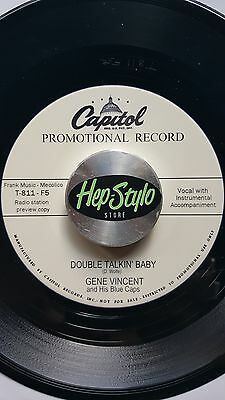 Gene Vincent 45 Re- Cruisin' / Double Talkin' Baby- Top Unissued Capitol 2Sider
