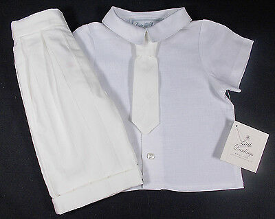 Little Darlings baby boy suit christening wedding page boy CREAM 6 months BNWTS