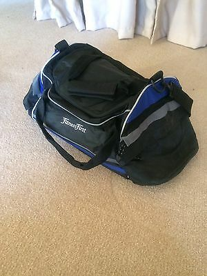 Fitness First Shoulder Gym Bag NEW Black Blue Casual Weekender School NEW Sports