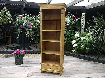 Fabulous Old Antique Pine Bookcase/bookshelf/linen Storage Or Dresser & Shelves
