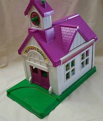 Vintage 1993 Barney the Purple Dinosaur  School House Playset  the lyons groups