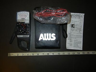 A.W.Sperry TD-2608 Snap-Around VOLT-OHM-AMMETER meter with case and leads