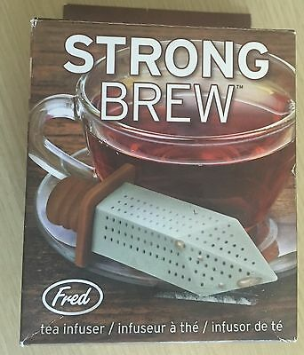 BNIB New Fred Strong Brew Tea Infuser - Sword Shaped - Silicone