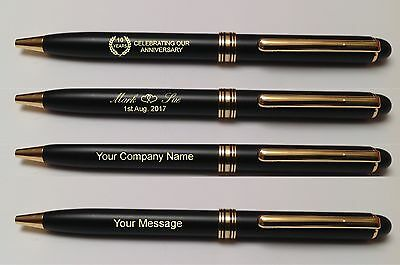 100 Brass Laser Engraved Personalised Pens Wholesale Promotional