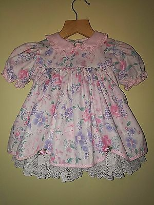 Baby Girls Beautiful Vintage Lace Floral Dress 18months