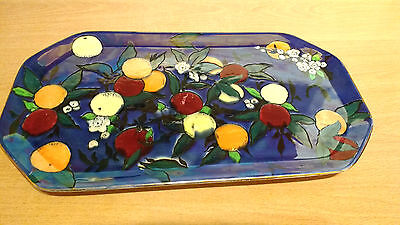"CarltonWare ""Orchard"" 36cm x 20.75cm Hand Finished Lustre Tray #2885.Good Cond."