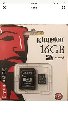 Kingston 16GB SDHC Micro SD Card 45MB/sec UHS-1 Class 4 SD Card Adapter