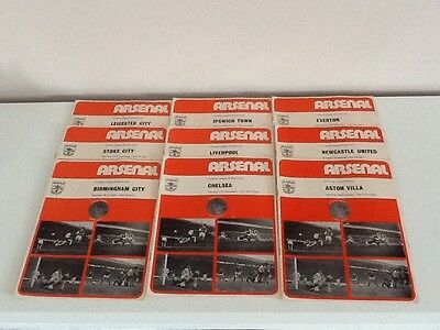 9 Arsenal home football programmes 1973-74