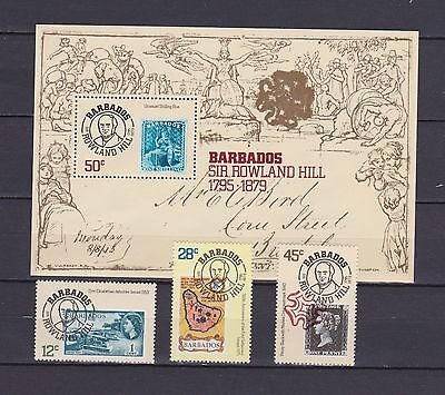 s16797) BARBADOS  MNH** Nuovi** 1979 Sir Rowland Hill 3v + s/s  stamps on stamps