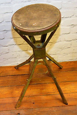 Evertaut industrial stool antique vintage machinist chair factory