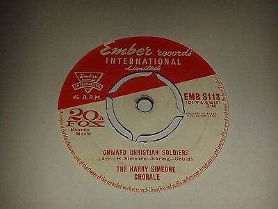 """The Harry Simeone Chorale -  """"Onward Christian Soldiers""""   7""""  (1960)  EMBS118"""