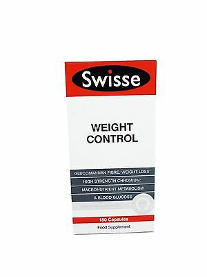 SWISSE Weight Control 180 Capsules Food Supplement Diet