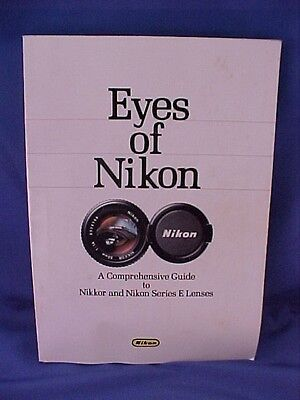 EYES OF NIKON guide to Nikkor Nikon series E lenses book manual