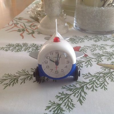 Boeing Airlines Aeroclock Airplane Shaped Advertising Working Alarm Clock RARE