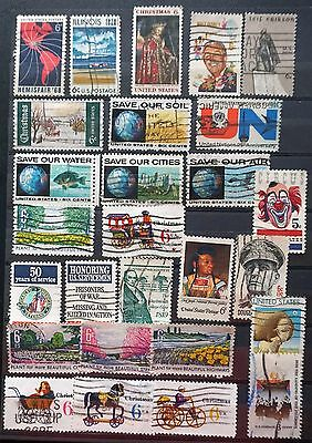 USA United States 1969-1970 GREAT LOT of 27 different Commemorative stamps   #95