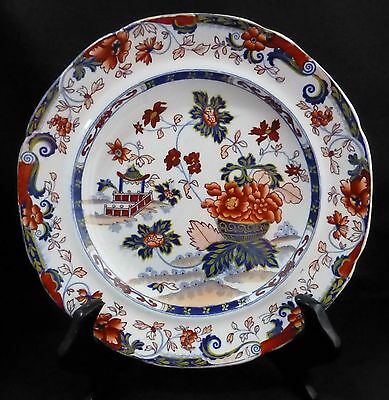 ANTIQUE MINTON AMHERST JAPAN CHARLES MEIGH CHEESE PLATE  # 62 c. 1835 - 1861