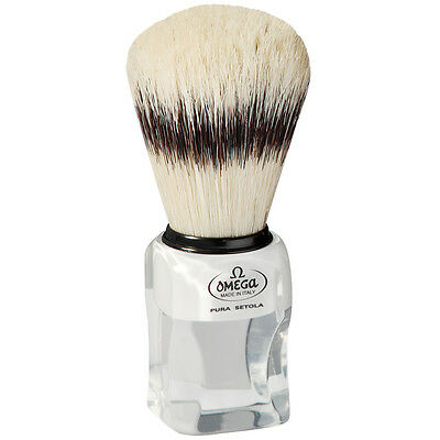 Omega 81020 Pure Boar Bristle Shaving Brush with Stand
