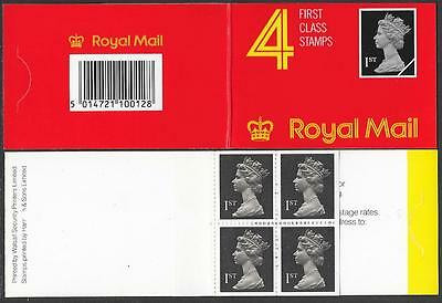 HB2, 4 X 1st, Scarce Walsall / Harrison booklet, cat value £40.00