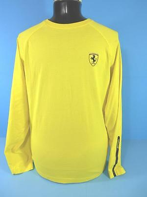 FERRARI Yellow Long Sleeve T-Shirt (S) SMALL *OFFICIALLY LICENSED*