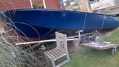 Day boat hull. Boat project new, with trailer, Fishing, Speed dinghy, tender