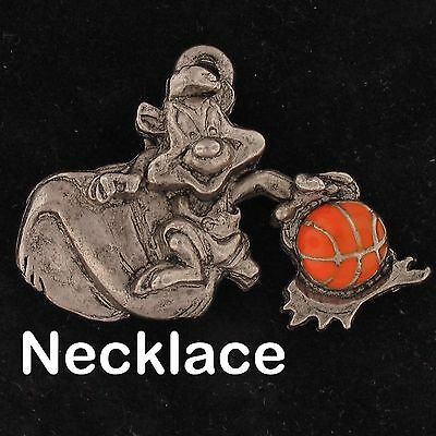 NECKLACE Pepe Le Pew WARNER BROS LOONEY TUNES WB STORE Pewter BASKETBALL 4267
