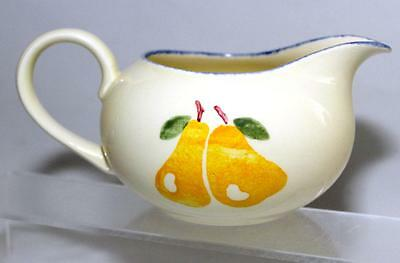 Poole Pottery Dorset Fruit Pear Pattern Milk Jug made in White Earthenware