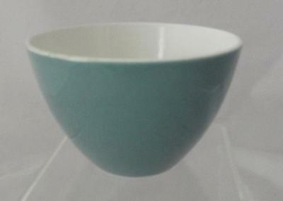 Poole Pottery Sugar Bowl 7cm Dia for Coffee Set Glazed in Cameo Celeste Green