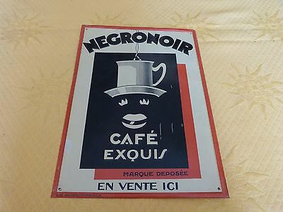 ancienne plaque publicitaire en t le cafe negronoir eur 150 00 picclick fr. Black Bedroom Furniture Sets. Home Design Ideas