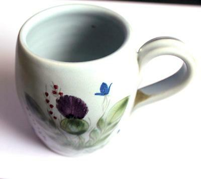 Buchan Pottery Thistle Heather & Bluebell Pattern Coffee Mug made in Stoneware