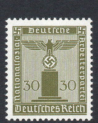 GERMANY 1942 Official Issue Eagle / Swastika 30Pf Bronze-Green Fine MINT NH