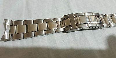 20mm stainless steel Oyster watch band Flip lock clasp submariner bracelet strap