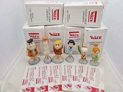 Wade Flintstones Fred, Wilma, Barney, Betty, Pebbles and Bam Bam Boxed + Certs