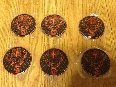 NEW Lot of 6 Jagermeister Jager Rubber Coasters