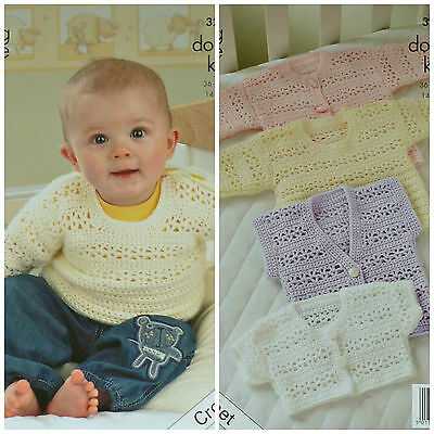 CROCHET PATTERN Baby/Toddlers 4 styles Jackets and Jumpers DK King Cole 3250