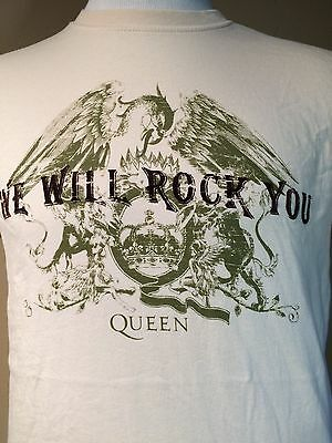 QUEEN BAND we will rock you Mens M Medium Shirt tshirt tee shirt t t-shirt
