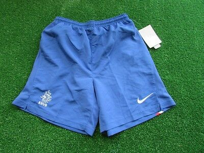Nike Authentic Vintage Holland Away Football Shorts In Blue M Boys 10-12 BNWT