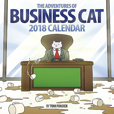 Business Cat - 2018 Wall Calendar - Brand New - Funny Humor 486198