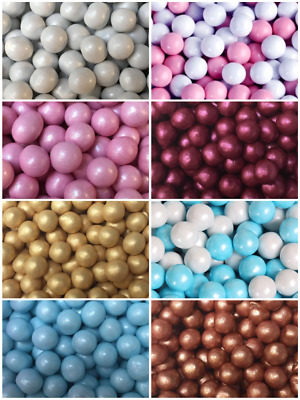 6mm Choco Pink Blue Gold White Pearls Non Pareils Dragees Balls Cake Decorations