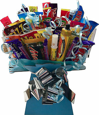 Retro Sweets & Chocolate Bar Bouquet Sweet Tree Explosion Father's Day Fathers