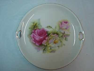 Beautiful Vintage Hand Painted Plate, Germany 99, Gold Trim