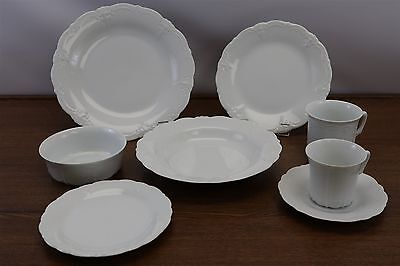70 PC Hutschenreuther/Tirschenreuth Baronesse White Porcelain German China Set