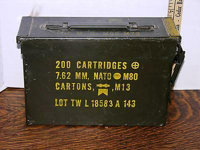 AMMO US Army Military Metal Box - 100% Steel