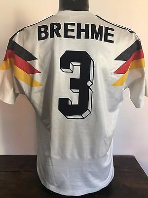 Germany Brehme Player Issue Fifa Match 8-10-1991 Unicef Adidas