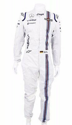 Adrian Sutil 2015 Williams F1 Formula one overalls race suit