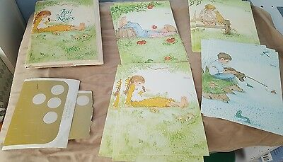 Current Inc Country Theme Animals  Apple Boy Girl NoteCards Just a Notes Trifold