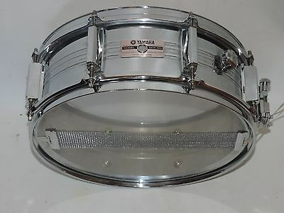 "Yamaha 5 x 14"" Metal Snare Drum SD350MG New Heads"