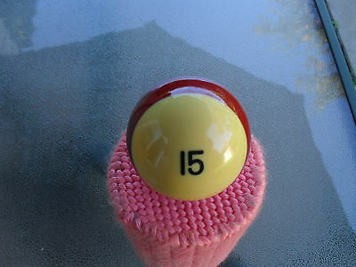 """Single Replacement  Billiards Pool Ball #15  Size 2-1/4""""/ 6 oz."""