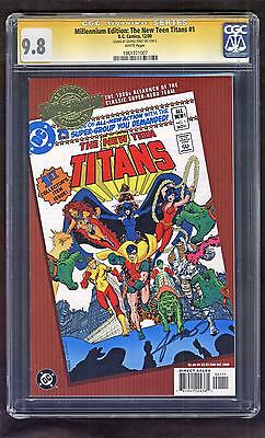 New Teen Titans 1 CGC SS 9.8 GEORGE Perez Signed Millennium Edition FREE Ship
