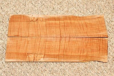 Bookmatched flamed maple wood 480mmx240mmx7mm